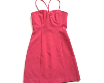 90s Pink Bodycon Mini Dress