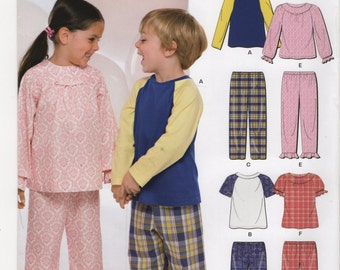 New Look Pattern 6932 Toddlers and Children's Sleepwear size A (1/2 - 8) UNCUT