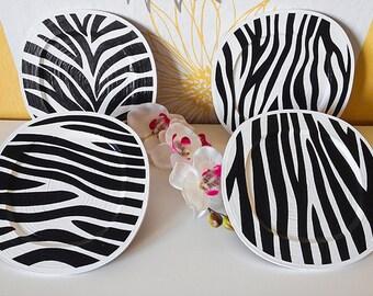 Zebra decor, zebra print, black and white, home decor, zebra art, nursery decor, safari nursery decor, zebra wall art, framed art print