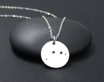 Aries Constellation Necklace Sterling Silver, Aries Necklace, Zodiac Necklace, Zodiac Jewelry