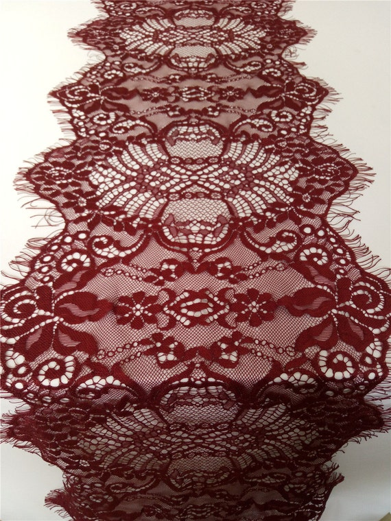 10ft wine red lace table runner 11 wedding runners for 10 foot table runner