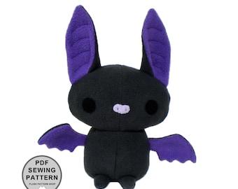 Plush Bat Sewing Pattern PDF - Stuffed Animal Pattern