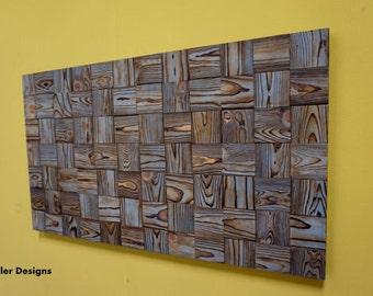 Wall art - wood - wood wall art, sky reclaimed blue
