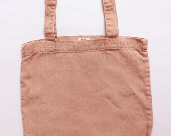 Indigo Blue Plant Dyed Linen Tote Canvas Tote Shoulder Bag