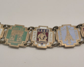 Vintage Art Deco Paris France Souvenir Bracelet