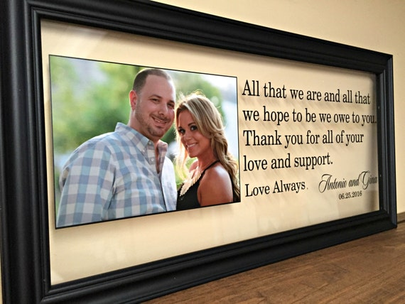 Gift, Wedding Gifts for Parents, Gifts for Parents, Rehearsal Dinner ...
