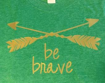 Be Brave Vinyl Embellished T-Shirt