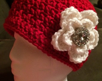 Womans Winter Hat with Bling