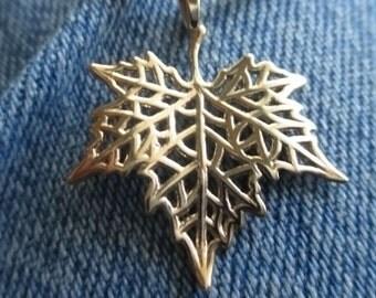 Mini Maple Leaf Pendant