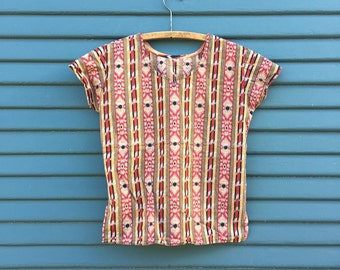 East Indian Printed Blouse Sz: XS