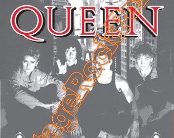 362 - QUEEN - Freddie Mercury - Milano, italy - 14 september 1984    - artistic concert poster