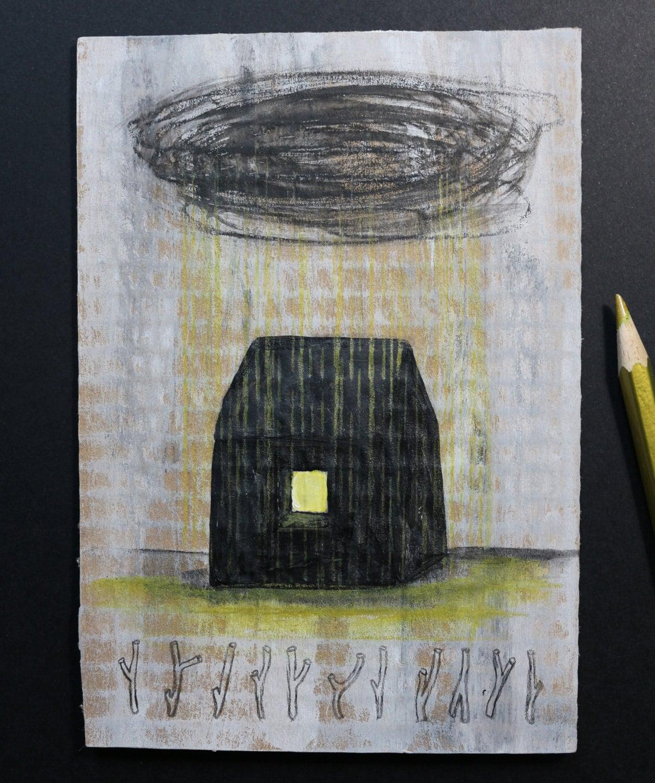 art peinture originale sur carton brut. Black Bedroom Furniture Sets. Home Design Ideas