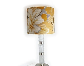 ON SALE Vintage lamp with floral lamp-shade