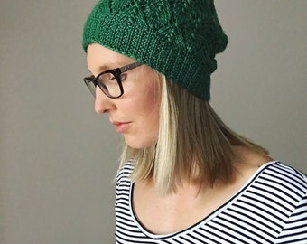 Green Slouchy Hat // Slouchy Hat