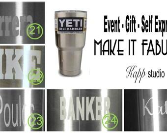 In stock YETI 30 oz tumbler - name personalized with premium engraving