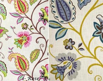 Zipper closer P Kaufmann Rose Juniper Lavender Cranberry Off White pillow cover Decorative Throw Pillow 14x14 16x16 18x18 20x20, 24x24 26x26