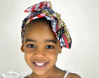 Reversible-headband-scarf-turban-belt-Baby-girl-women-mother-red -horseshoebaby-girl-chevron