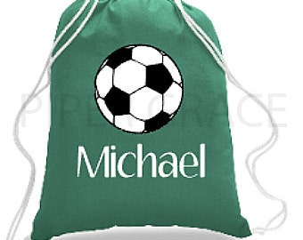 Soccer Drawstring Bag, Soccer Bag, Soccer Backpack, Soccer Coach Gift Ideas, Soccer Gift Ideas, Soccer Coach Gift, Soccer Gifts