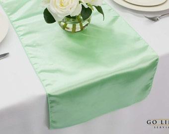 Mint Satin Table Runner | Wedding Table Runner