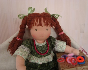 waldorf doll, fabric doll, textile doll, rag doll, soft doll, cloth doll