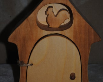 Woden chicken coop - wood henhouse - Handmade hencoop - Wood hennery - Waldorf toy - Farm wooden - wood toy