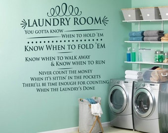 Laundry Room SVG, Laundry Room Sign, Know When, to Fold Them, SVG, PNG, Dfx, Eps, Silhouette, Cricut, Cut File, Vinyl, Laundry Svg