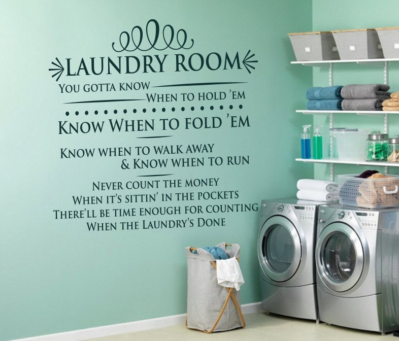 Laundry Room Svg Laundry Room Sign Know When To Fold Them