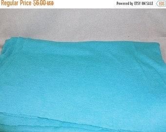 On sale Destash- Teal Stretch Fabric Remnant