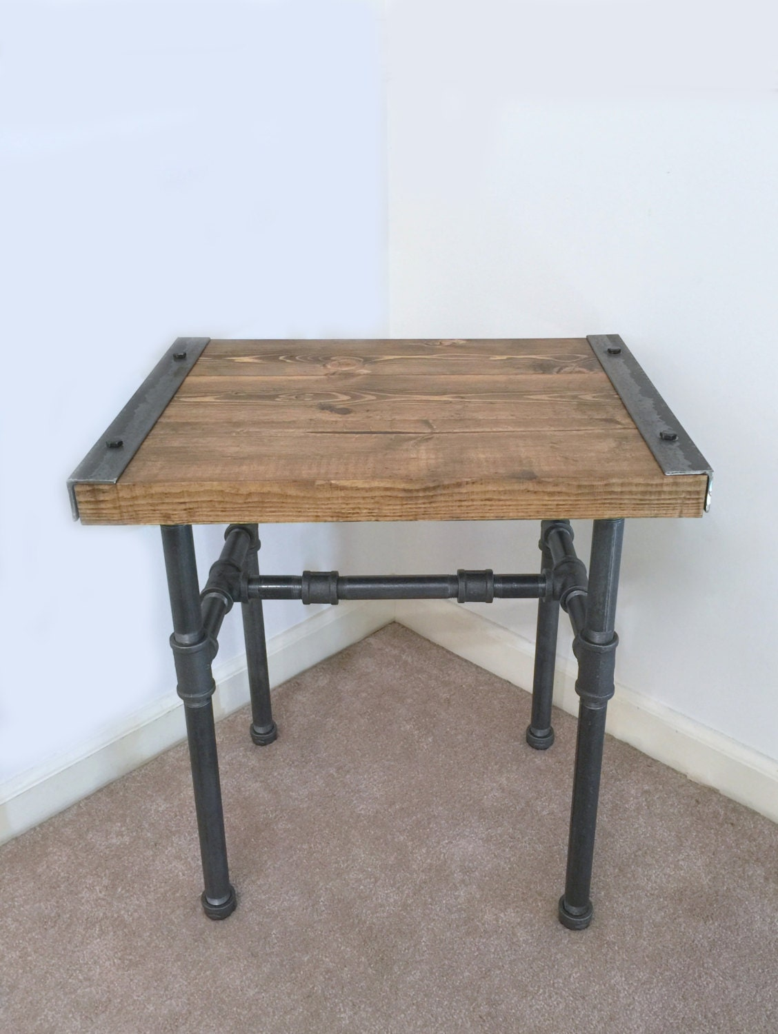 Industrial Side Table End Table Pipe Table Industrial