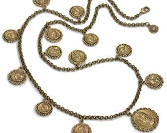 Boho Coin Necklace, Coin Necklace, Ancient Coin Jewelry, Coin Jewelry, Gypsy Coin Necklace, Roman Coins, Boho Necklace, Gypsy Necklace N1436