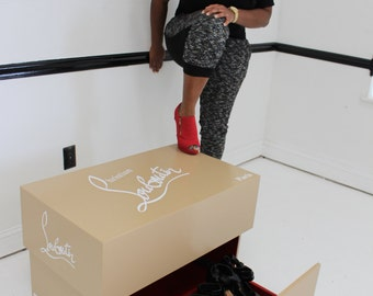 Giant christian louboutin shoe box ,high heels , storage box, nike,jordan shoebox case