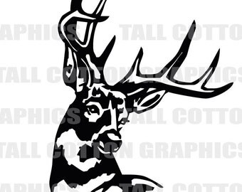 DEER 10 Point Buck Vinyl Decal Sticker decor #WL022