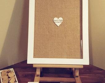 Wedding Drop Box (Supplied with 100 4x4cm Hearts)