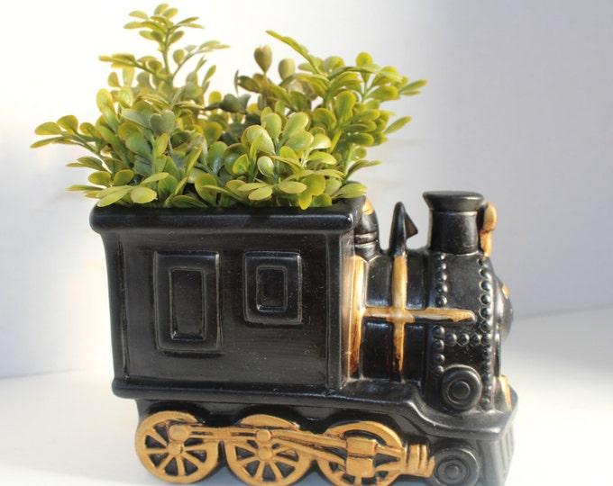 Planter, Flower Pot, Train
