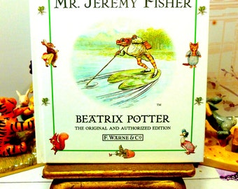 The Tale of Mr Jeremy Fisher by Beatrix Potter Beautiful Illustrations Vintage Hardback Book 1st Edition Thus