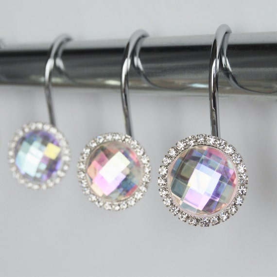 Shower Curtain Hooks Rings Multi Color By AmericanCuteness