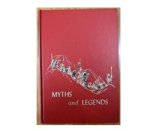 The Children's Hour Myths and Legends 1969 Hardcover Short Stories 368 Pages