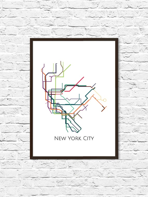 New York City New York Metro Map NYC Subway Map Transit