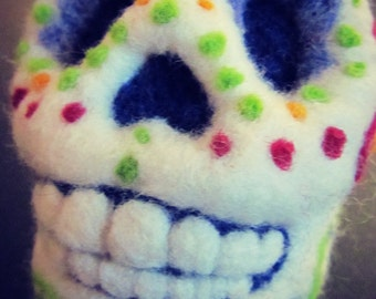 Day of the Dead needle felted sugar skull