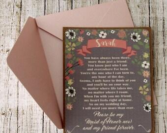 Asking Bridesmaid - Bridesmaid Ask Card - Asking Bridesmaids - Bridesmaid Proposal - Will You Be My - Bridesmaid Card - Ask Bridesmaid Card