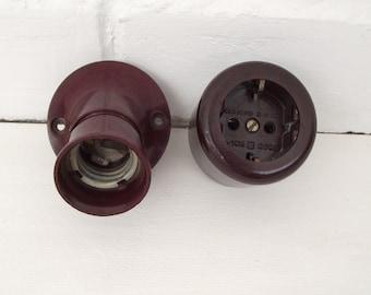 Soviet vintag electric light  socket and outlet