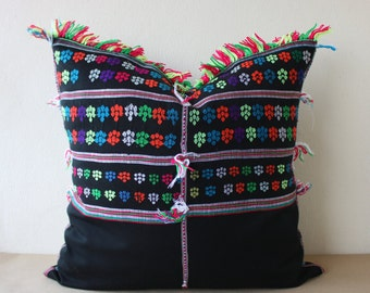 "22"" x 22"" Vintage Ethnic Karen Hill Tribe Hand Woven Blouse Pillowcase, Cushion Cover /122"