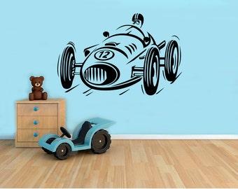 Race Car Wall Decal Etsy - Custom vinyl decals for car interior