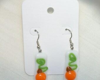 Fall Pumpkin Earrings