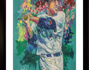 70% SALE - Yogi Berra Real-Art LIMITED Edition Paper Print From an Original Hand-Painted (Not DIGITAL/Computer) Artwork By Winford
