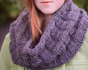 Chunky Knit Cowl, Gifts for Her, Back to School, Infinity Scarf, Knit Hood, Chunky Cowl, Winter Cowl, Fall Scarf, Birthday Gift, Cozy Cowl