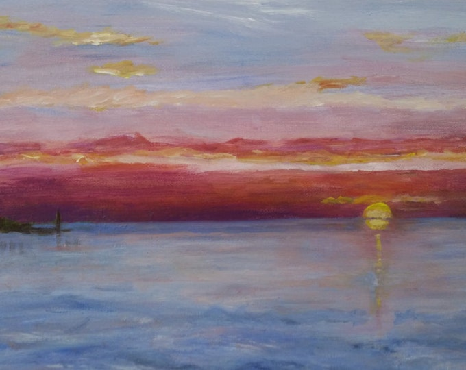 Early Morning Sunrise, Port Mahon, Delaware Bay - Free Shipping