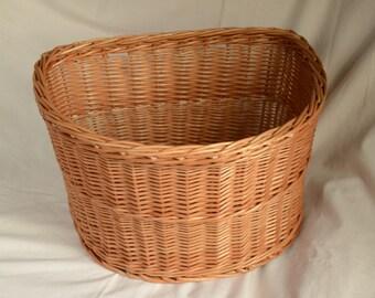 Bicycle Basket, Handwoven Wicker Bike Basket, Wicker Bicycle Basket, Handmade Willow Basket for Bicycle, Bike Wicker Basket