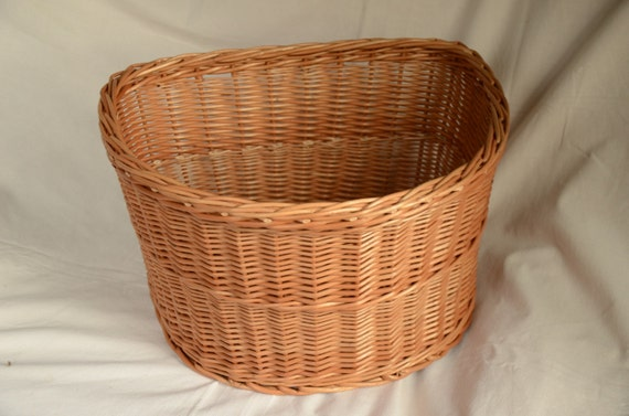 Handmade Bicycle Baskets : Bicycle basket handwoven wicker bike by willowsouvenir
