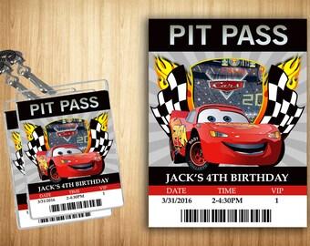 Disney Cars PIT PASS!